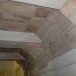 Soffitto a volta in polistirolo finti mattoni/tavelle