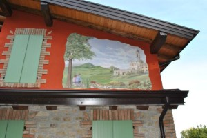 """Dipinto su muro """"Chiesa di Pigazzano"""""""