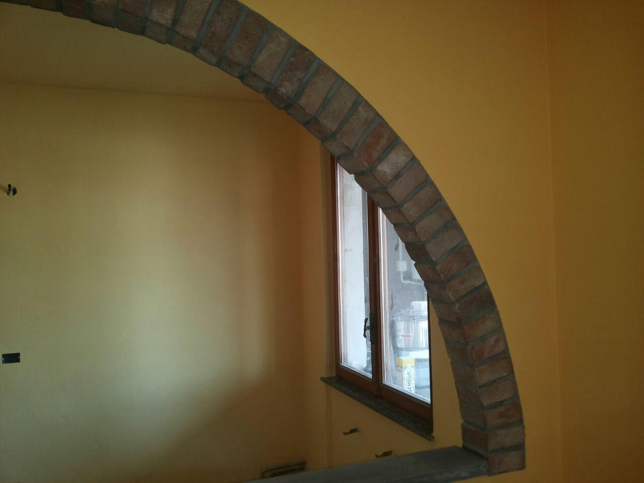 Arco in finti mattoni