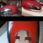 Filettatura a mano di Serbatoio Moto Guzzi Falcone