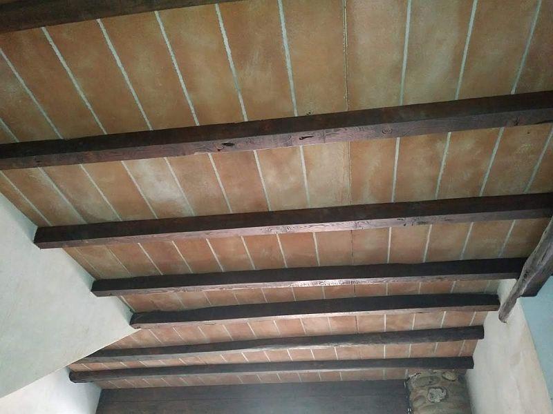 Rivestimento con pannelli di polistirolo finte tavelle for Pannelli in polistirolo per soffitti