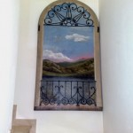 Tromp l'oeil su porta antica