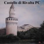 """Riproduzione su muro di """"Castello di Rivalta""""Piacenza"""