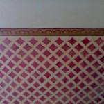 decorazione murale a rombi
